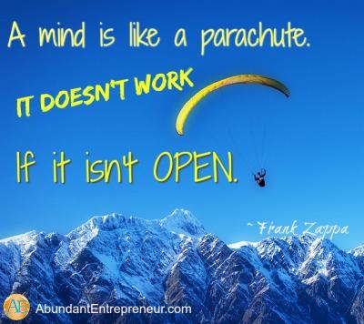 Abundant Entrepreneur - Frank Zappa - Open Minds