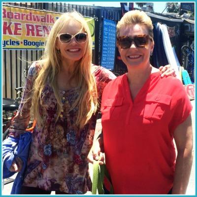 Abundant Entrepreneur; Sabrina and Nat hanging out on the boardwalk